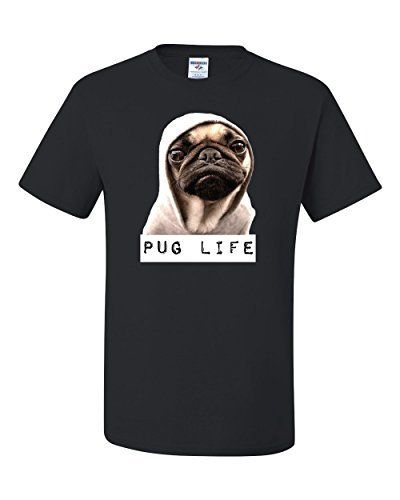 $7.99 (50% Off) on LootHoot.com - Pug Life Funny Humor Tee Graphic Unisex…
