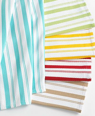 Martha Stewart Collection Basket Weave Kitchen Towels ...
