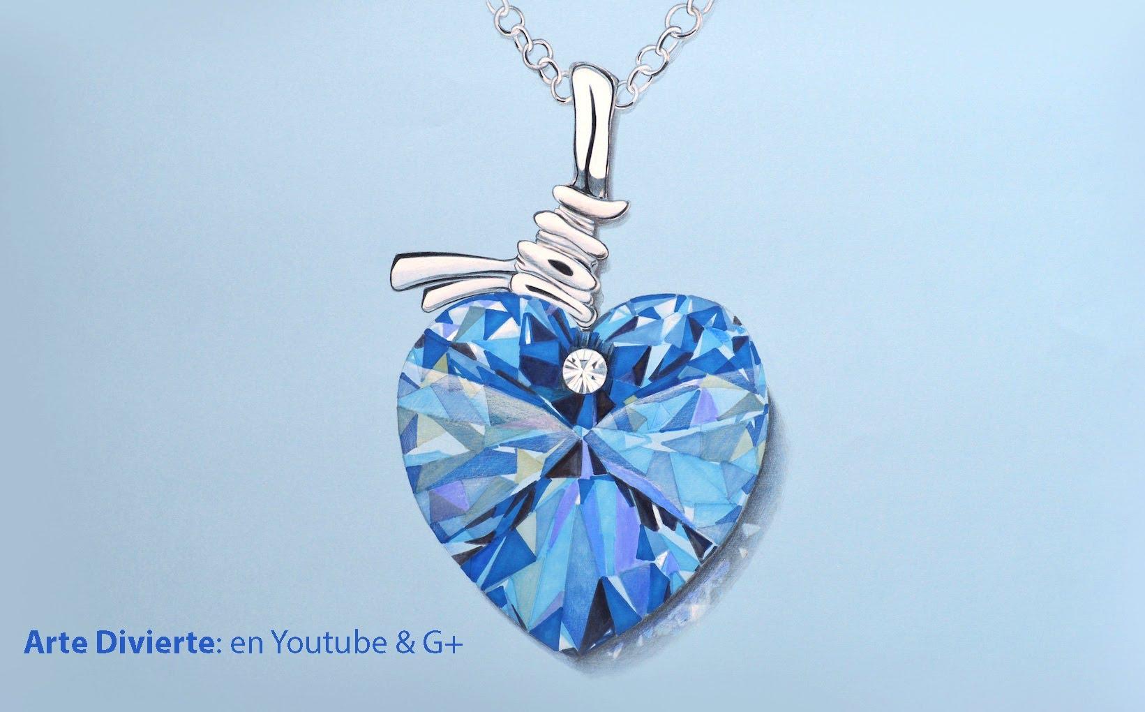 a2a172708084 Dibujando cristal  Cómo dibujar un corazón de Swarovski -Arte Divierte. -  YouTube