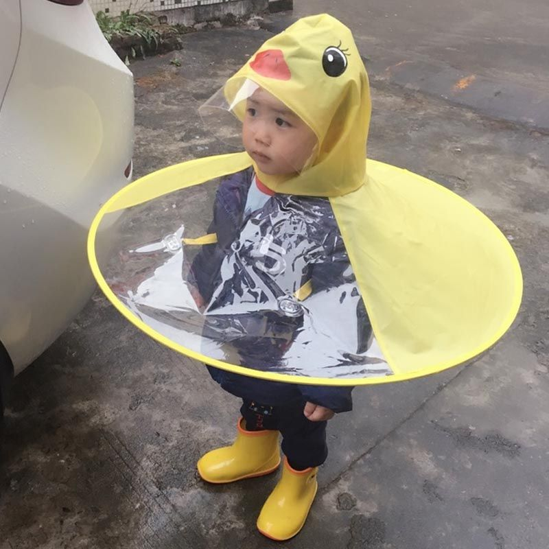 Baby Raincoat Rain Hat Umbrella Cover Cloak Non Handle Rain Capecheckbestprices Com Kids Umbrellas Baby Raincoat Raincoat Kids