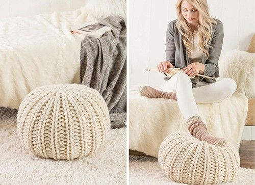 Use knitting stitches and rounds to create this knitted ...