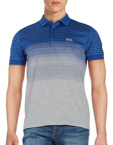 261b3a7b Hugo Boss Paddy Striped Polo Shirt Men's Blue/Grey X-Large in 2019 ...