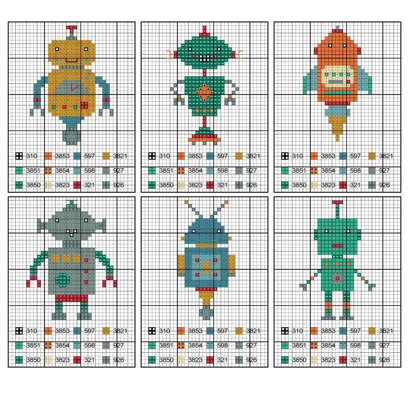 Cross-Stitch-Robot-Afghan-Body.jpg (800×800)   Crafts - Cross Stitch ...