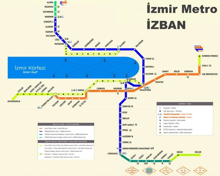 zmir ZBAN and metro map Maps Pinterest Izmir and City