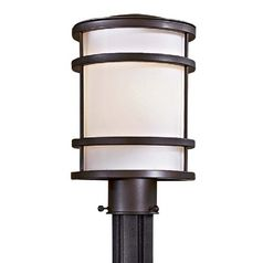 Modern post light with white glass in oil rubbed bronze finish modern post light with white glass in oil rubbed bronze finish aloadofball Choice Image