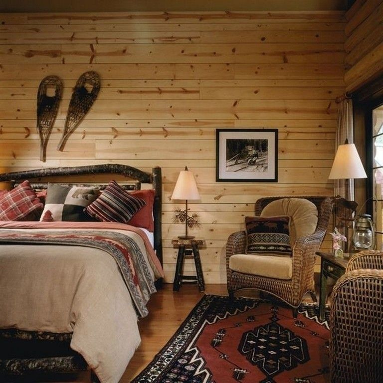 27 Lovely Rustic Cabin Bedroom Decorating Ideas Cabin Bedroom Decor Cozy Cabin Bedrooms Cabin Bedroom