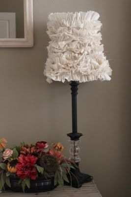 Great ideas diy inspiration 7 ruffle lamp shades ruffles and crafty texas girls crafty how to ruffled lamp shade mozeypictures Gallery