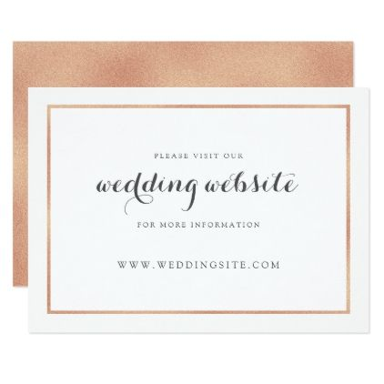 rose gold border modern wedding website card spring gifts beautiful diy spring time new year