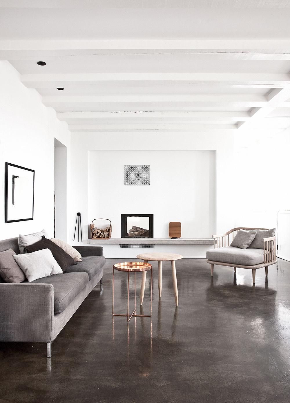Strandgården Norm Concrete floors living room, House