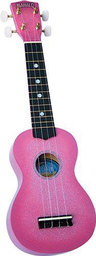 :Mahalo U-35PK Sparkling Soprano Ukulele Outfit in Pink