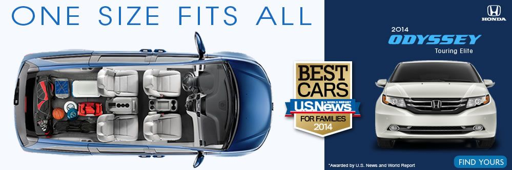 the Honda Odyssey is U.S. News Best Cars for Families! Get