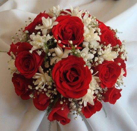 ramo de novia rojo y blanco Buscar con Google Bridesmaid