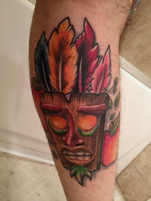 Fanart tattoo crash bandicoot aku aku tattoo ideas for Aku aku tattoo