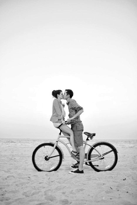 kisses on bicycles