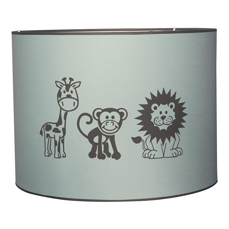 lamp leeuw aap en giraffe in mintgroen op deze mint / pastel, Deco ideeën