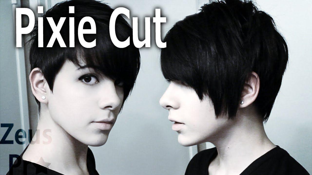 How To Cut Own Hair Pixie Cut Youtube Hair Pinterest Cut
