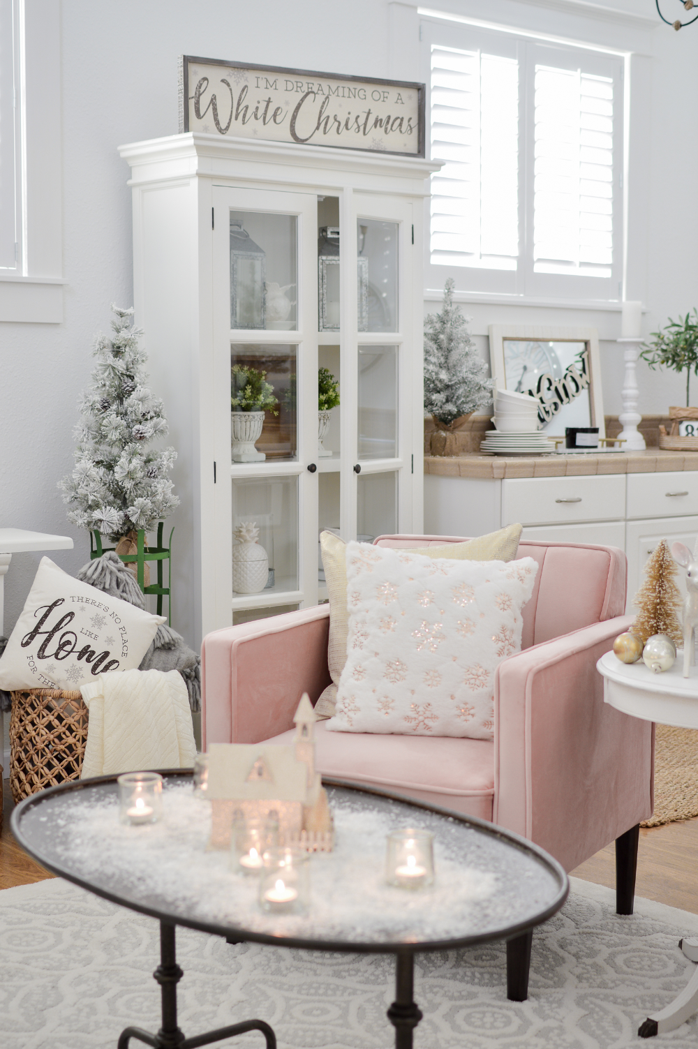 The Little Cottage at Christmas Winter home decor, Easy