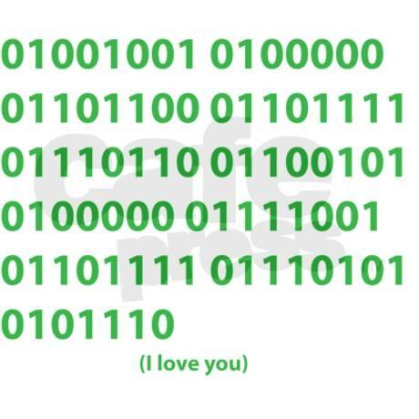 I LOVE YOU in Binary Code Mug on CafePress.com