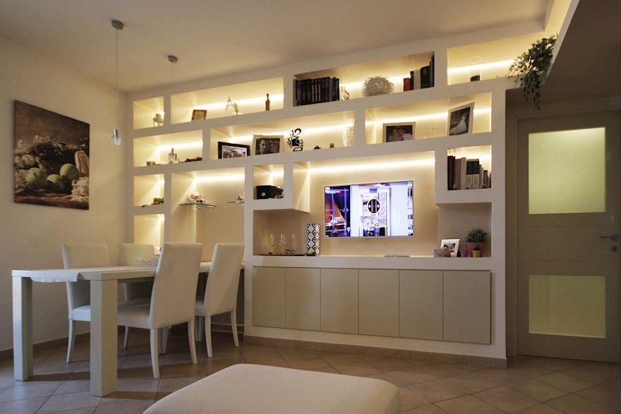 Photo of Arredare il Soggiorno con Librerie in Cartongesso di JFD – Juri Favilli Design | homify