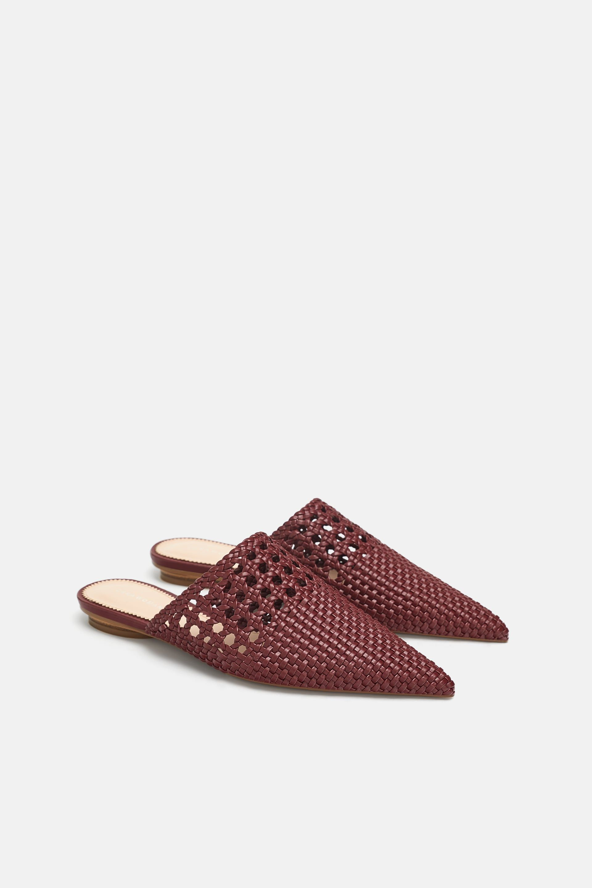 ab62cb9ca6d8a Image 1 of BRAIDED FLAT MULES from Zara | Outfits: Wishlist | Flat ...