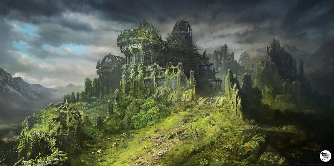 Image result for overgrown castle ruins fantasy