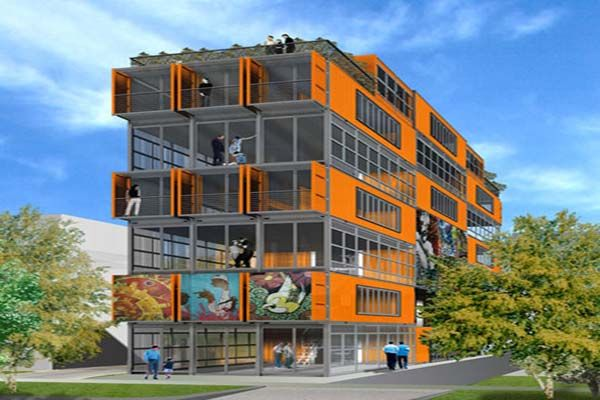 Building House From Shipping Containers Apartment Concept