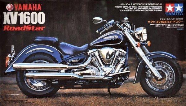 Tamiya 14080 1/12 Scale Motorcycle Model Kit Yamaha XV1600 A Road/Wild Star