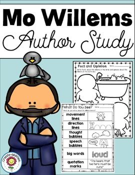 Mo Willems; Mo Willems Author StudyThis pack has everything you need to teach your students about Mo Willems and his books. There is a reading comprehension page, graphic organizers, writing prompts, and more!Included in this download: Mo Willems Reading Passage What Do You See?