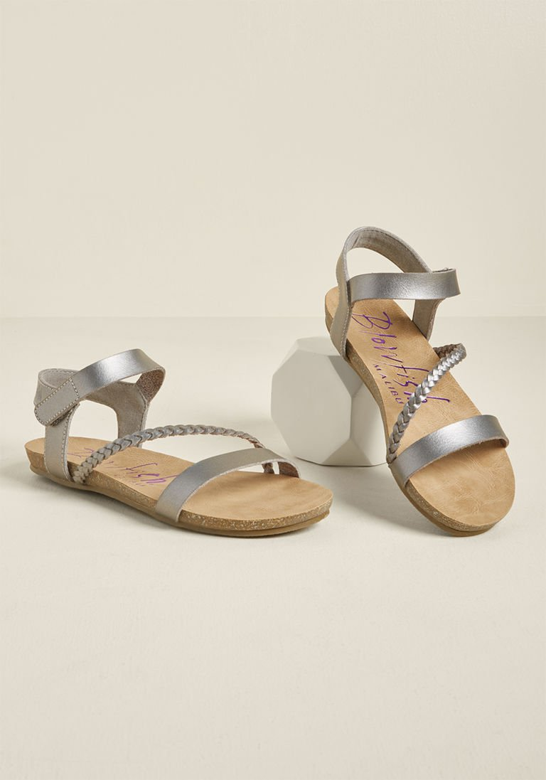 6ced5f80c899 Minimalist Preference Sandal in Silver in 6.5 - Flat - 0-1 by Blowfish from  ModCloth