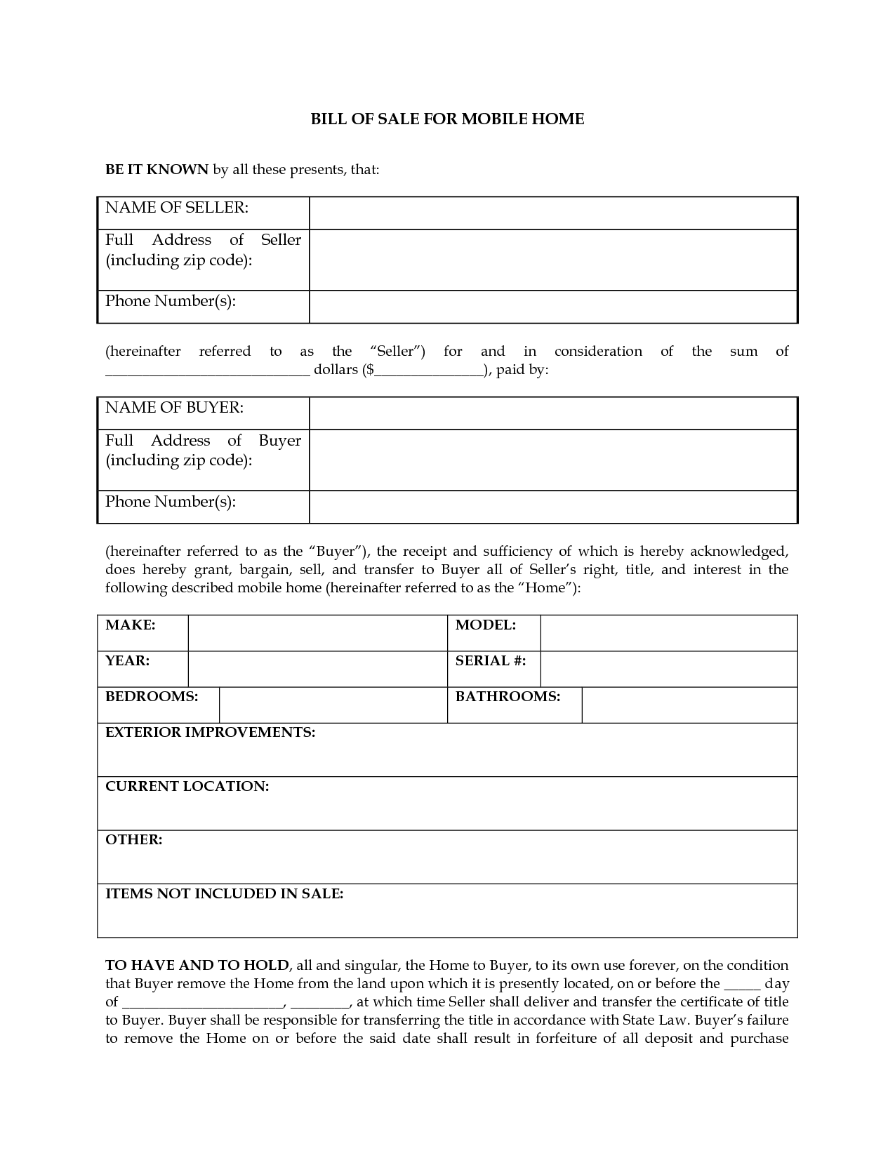 Rv Resume Printable Sample Rv Bill Of Sale Form Form Free Legal