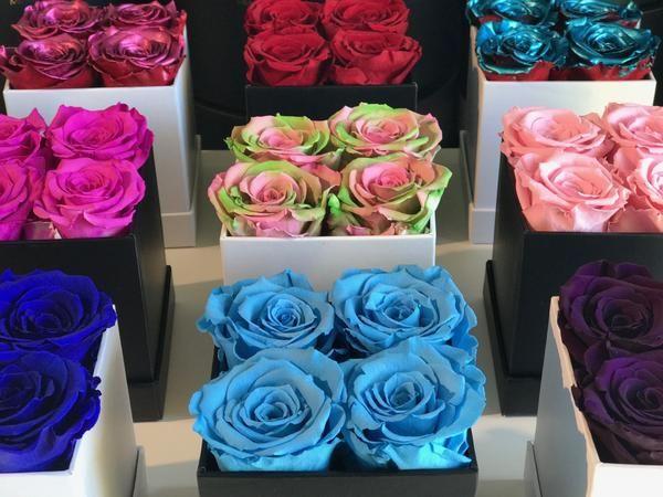Mini Square Eternity Rose Box Last More Than 1 Year Rose Preserved Roses Fresh Flowers Arrangements