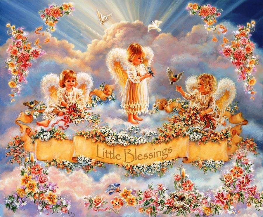 Открытка с неба ангелы, бабушку днем