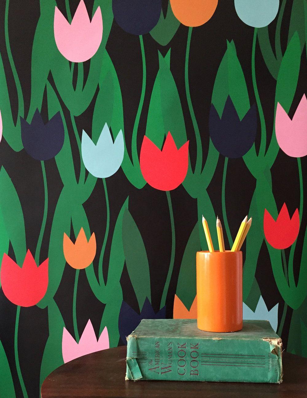 Tulip Shakur Wallpaper Peel, stick wallpaper, Wallpaper