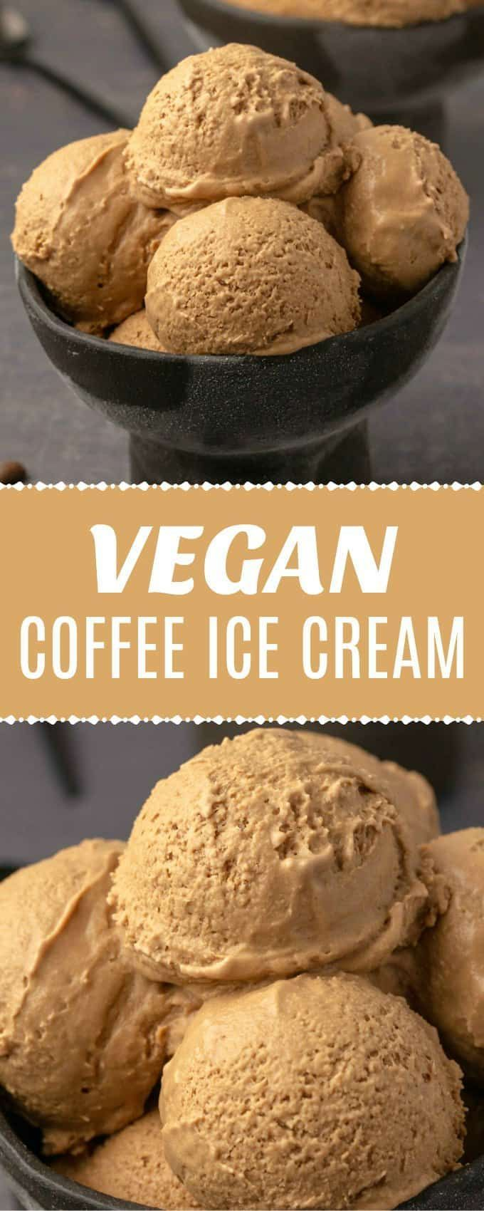 This vegan coffee ice cream is so good no one would ever guess it is vegan. Rich... - #1200Calorie #...
