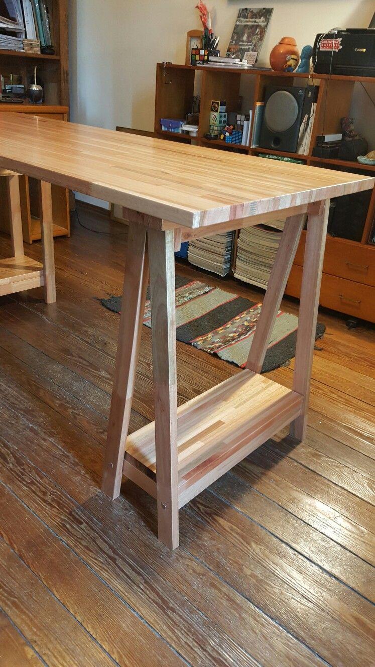 escritorio lustre finger joint eucalipto trio diseo en madera