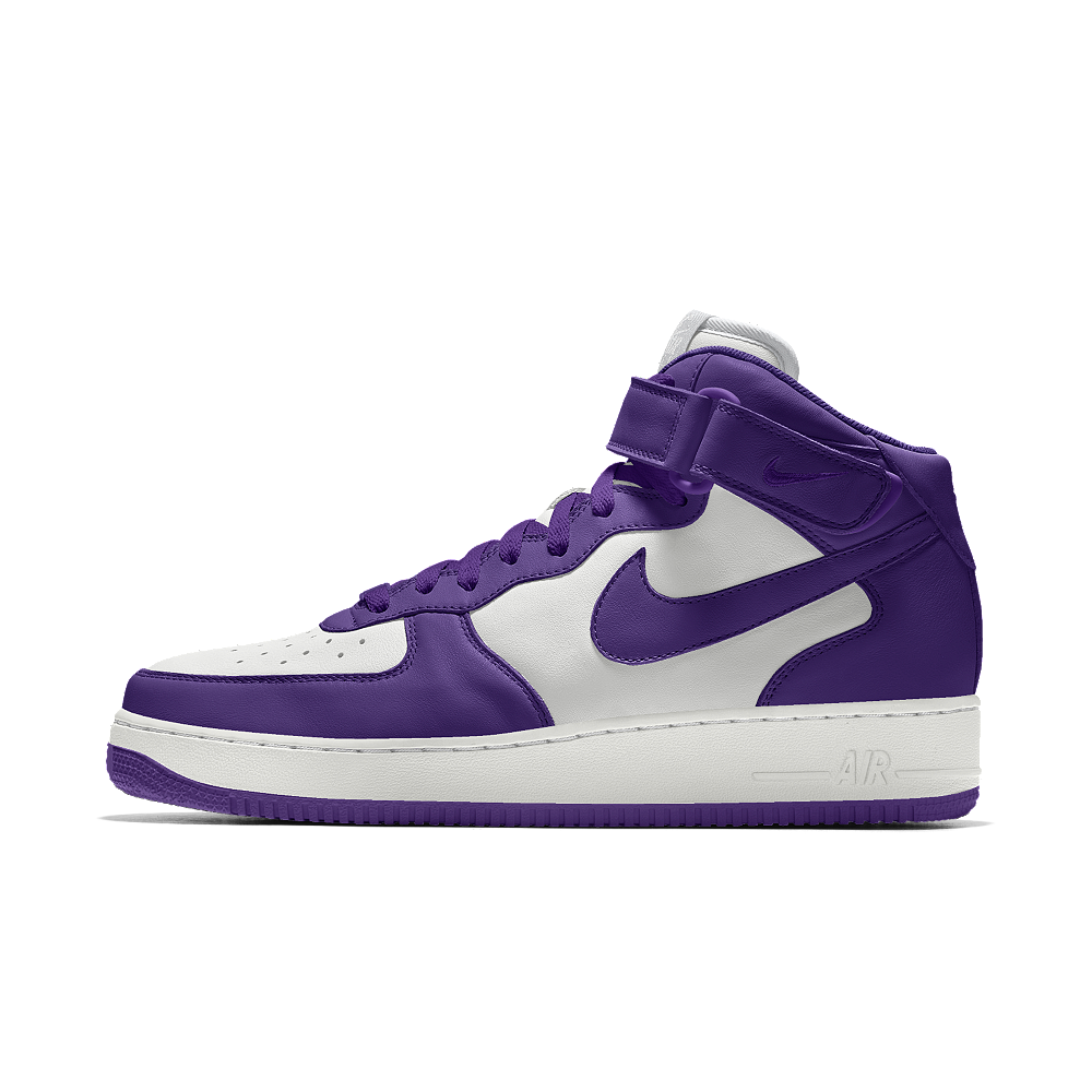 ee08124f19f55 Nike Air Force 1 Mid iD Big Kids' Shoe Size 3.5Y (Purple) | Products ...