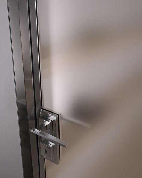 Hinged glass and aluminium door G-LIKE   Hinged door Modern …