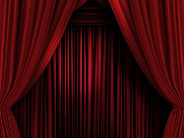 Rideaux rouges scène de théâtre - rideau scène spectacle   RED ...