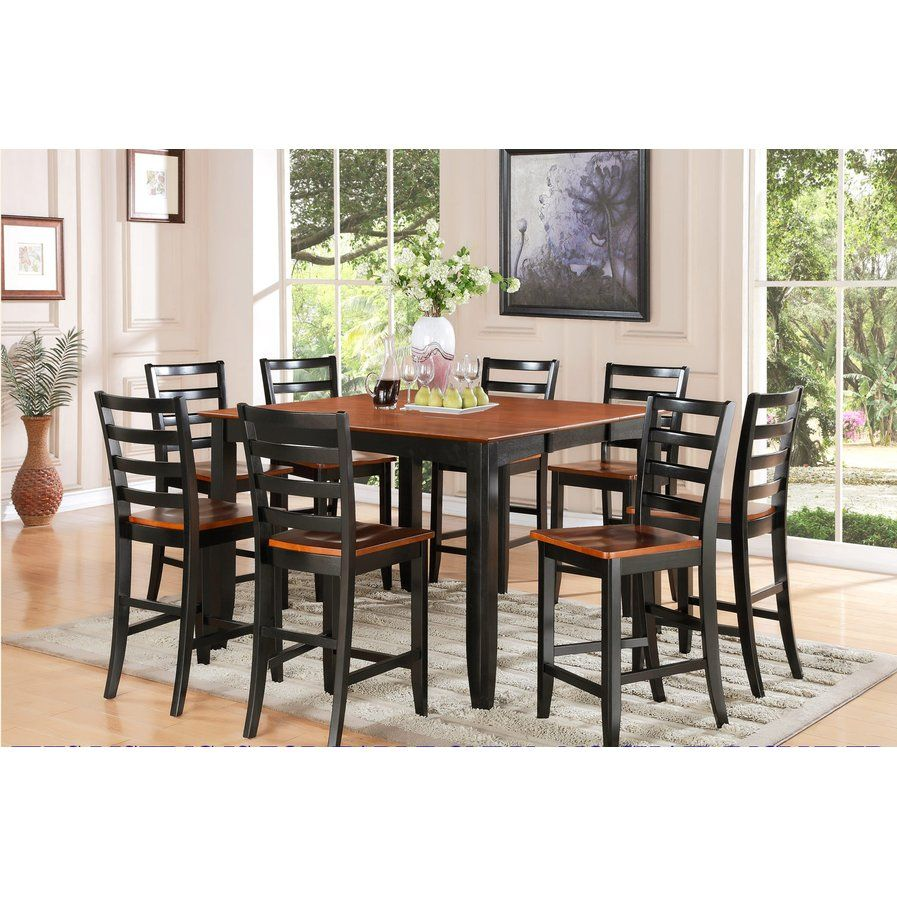 Fairwinds Counter Height Extendable Dining Table Counter Height Dining Table Square Kitchen Tables Solid Wood Dining Set
