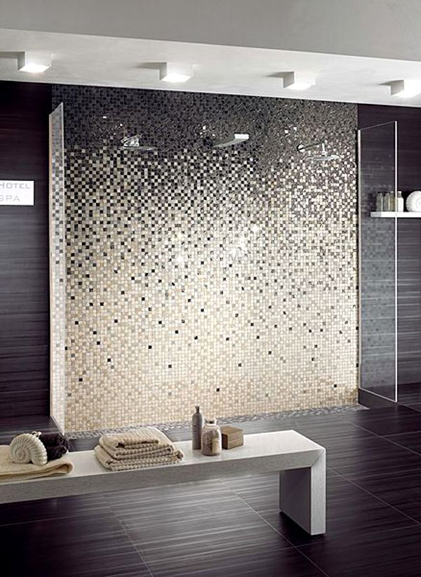 Modern Mosaic Tile Backsplash Bathroom Designs Concept