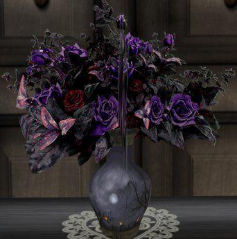 goth flower arrangement google