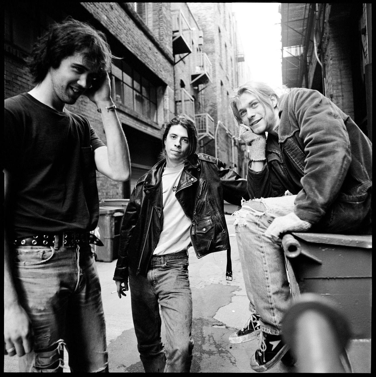 Nirvana, DGC Records, Seattle, WA, US. 1991. Photograph by Chris Cuffaro