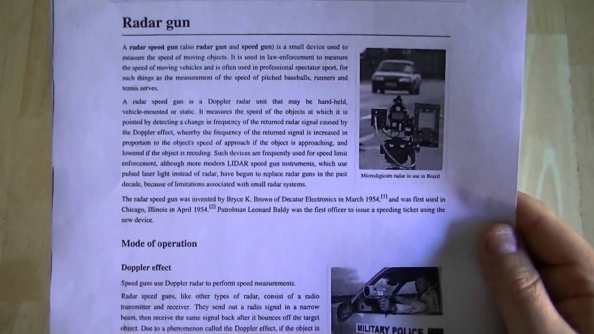 Defending Yourself Against a RADAR Speeding Ticket - Evidence Submission