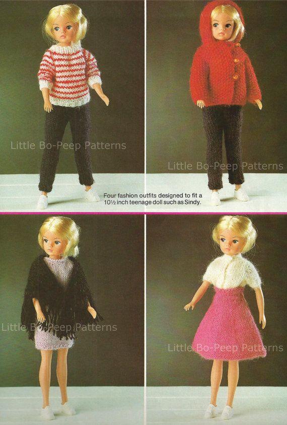 Fashion Doll Sindy Type Knit Four Fashion Outfits Pdf Knitting