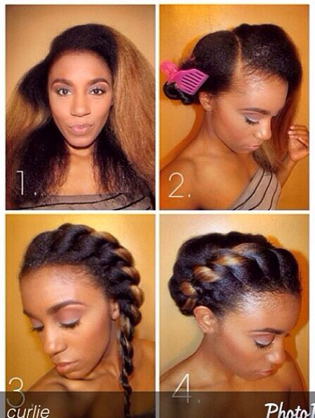 Tomes Edition Protective Hairstyles For Relaxed Texlaxed Hair Color For Black Hair Hair Styles Relaxed Hair