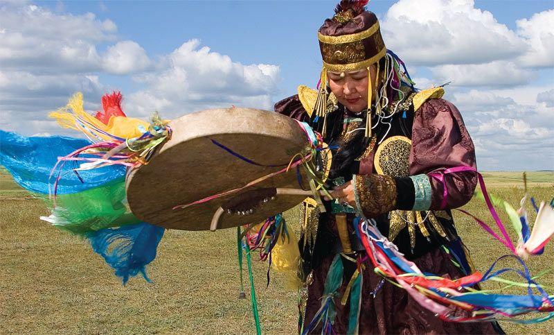 indigenous people of russia | Shaman, Buryatia region, Russia, Siberia | Indigenous people of Russia