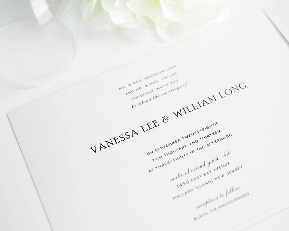 Simple Elegance Wedding Invitations | Simple wedding invitations ...