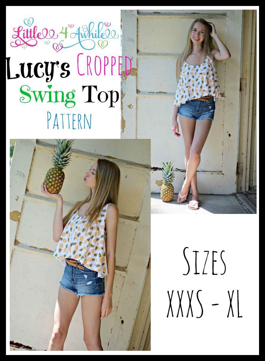 Lucy Cropped Swing Top Pattern | Anziehsachen | Pinterest