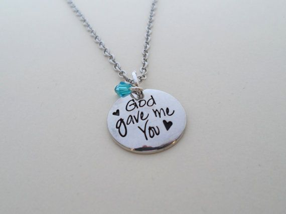 Gift necklace dome disc couples husband wife girlfriend god gave me you necklace birthstone necklace gift for daughter gift for best friend gift for girlfriend negle Choice Image