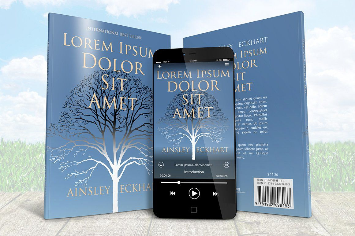 Smartphone With A5 Book Combo Mockup A5 book, Business